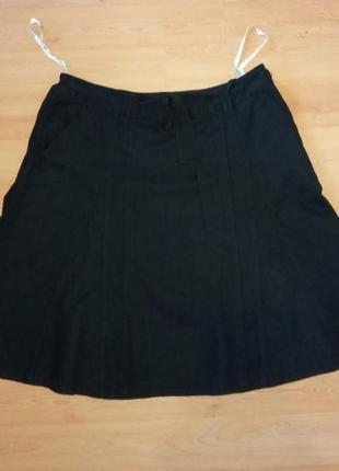 Натуральная юбка лен + вискоза