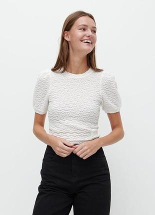 Блузка из текстурированной ткани