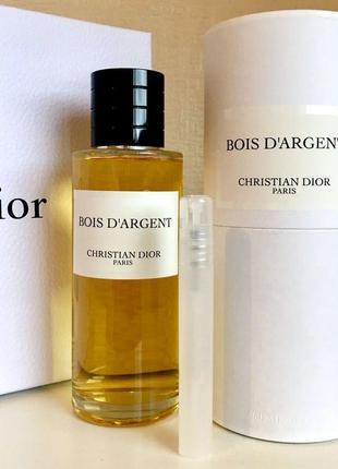 Christian dior bois d'argent оригинал_eau de parfum 5 мл затест