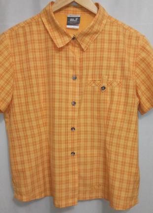 Jack wolfskin  outdoor треккинговая рубашка 46 р