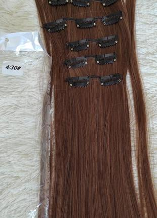 Искусственные волосы, трессы 6шт на 16 заколках