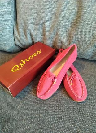 Розовые женские мокасины qshoes