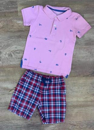 """Комплект тениска поло """"carters"""" + шорты «gymboree» р,2t/92cm."""