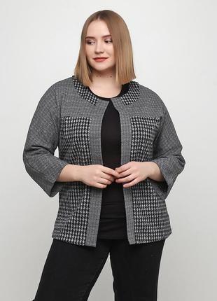 Жакет radda  серый 3206-23