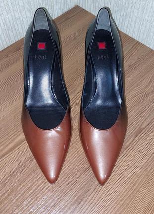 Шикарные туфли лодочки градиент всемирно известного австрийского бренда hogl