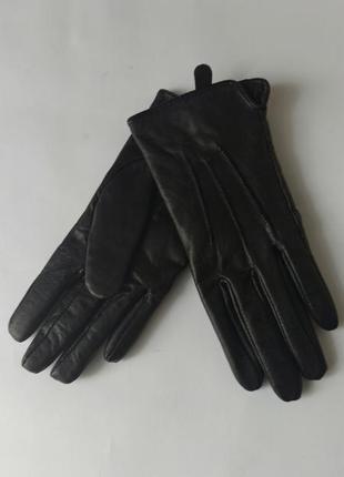 Перчатки кожаные женские tu