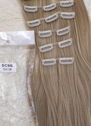 Волосы искусственные, трессы 7шт на 16 клипсах