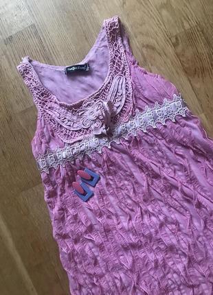 Нежное зефирное платье с кружевом