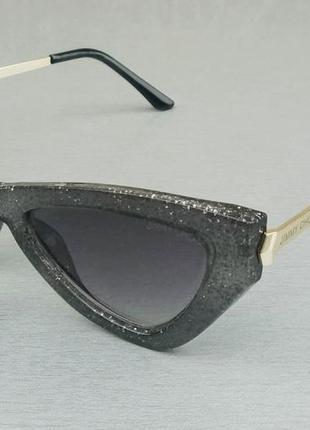 Jimmy choo очки женские солнцезащитные в серой мраморной оправе с градиентом