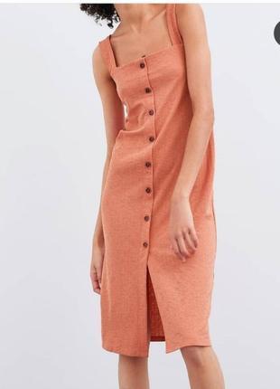 Лёгкий сарафан платье на пуговицах zara