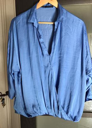 Шелковая рубашка zara