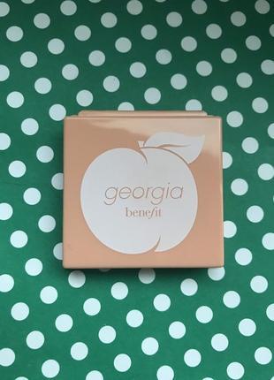 Золотисто- персиковые румяна benefit georgia