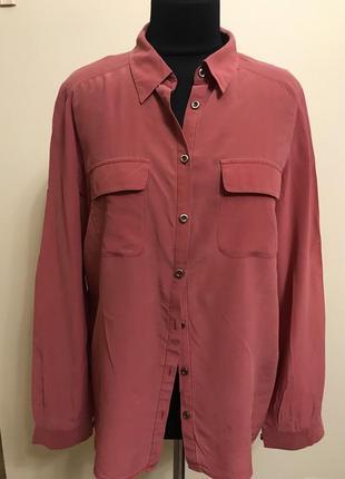 Блуза рубашка шёлковая