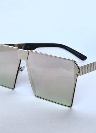 Солнцезащитные очки маска зеркальные