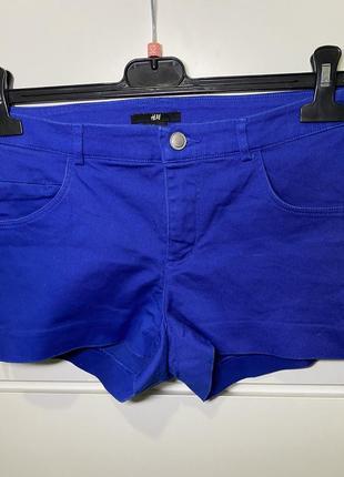 Ярко синие шорты h&m eur 36