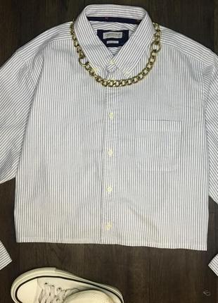 J. harvest & frost укорочённая рубашка в полоску