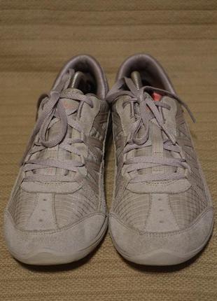 Легчайшие комбинированные серебристо серые кроссовки skechers relaxed fit air cooled memory foam 37