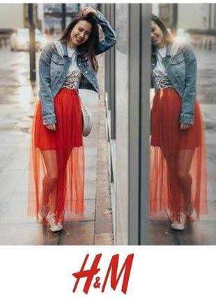 Пышная фатиновая юбка плиссе пишна спідниця плісе h&m
