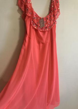 Платье коралловое  новое asos р 48-50
