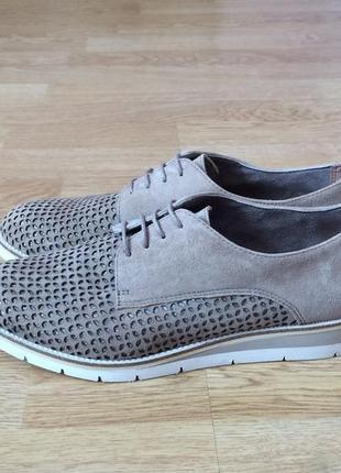 Новые замшевые туфли tamaris 38 размера