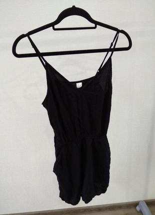 Комбез комбинезон ромпер шорты майка костюм черный