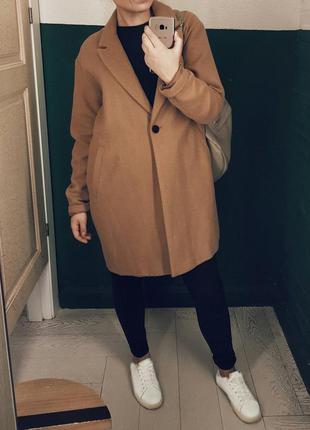 Пальто бойфренд pull&bear
