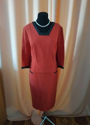 Красное трикотажное платье, беларусское классическое