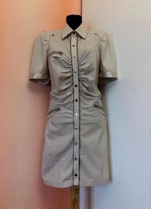 "До 01/07-спорт-шик платье от европейского бренда ""noa noa"" бежевого цвета"