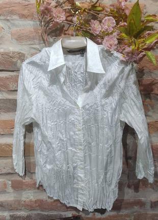 Винтажная жатая блузка