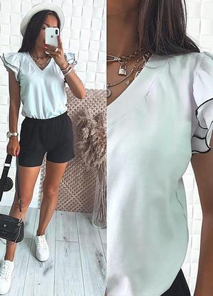 Летний костюм женский прогулочный повседневный футболка и шорты кулир