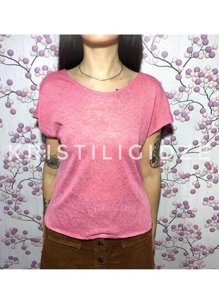 Легкая розовая футболка р.s