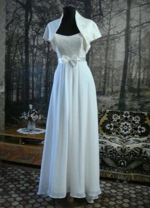 Шифоновое платье с болеро.