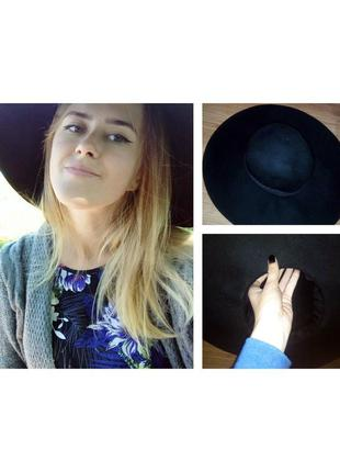 Широкополая шляпа h&m твердые поля