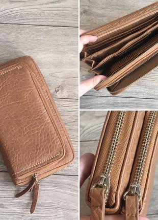 Фирменная сумка клатч в коричневом цвете