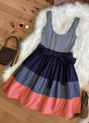 Распродажа!!! базовое трикотажное платье с объёмной юбкой №257max