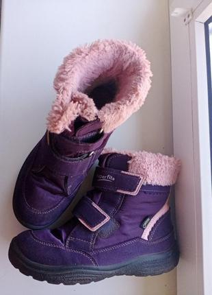 Термоботинки для девочки суперфит superfit ботинки сапоги