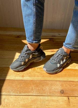 Женские кроссовки adidas ozweego dark grey/mint