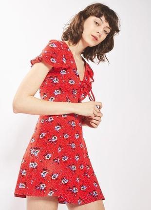 Распродажа!!! актуальное цветочное платье в рюшах #17max