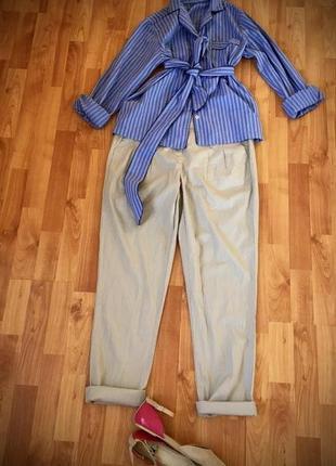 Trussardi оригинал, рубашка-жакет с поясом