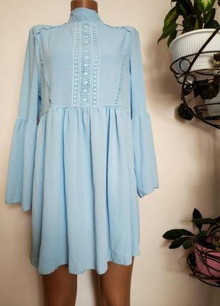 Свободное платье из вязаного крючком кружева   boohoo
