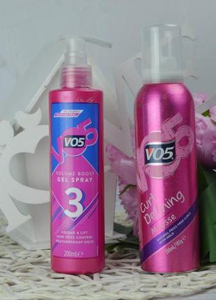 Фирменный гель-спрей мусс для волос локоны vo5 volume boost оригинал2 фото