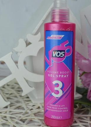 Фирменный гель-спрей мусс для волос локоны vo5 volume boost оригинал4 фото