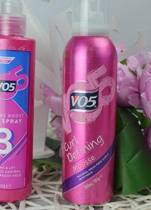 Фирменный гель-спрей мусс для волос локоны vo5 volume boost оригинал3 фото