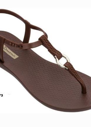 Сандали женские ипанема  (ipanema) модель 82760 коричневый.  шлепанцы,  вьетнамки  райдер