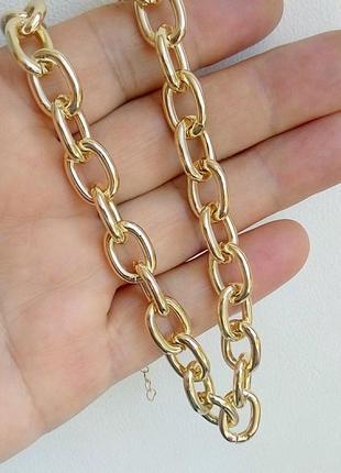 Цепь 40 см чокер колье ожерелье золото серебро
