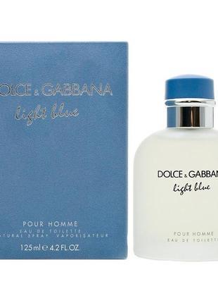 Мужская туалетная вода dolce & gabbana light blue pour homme 125 мл