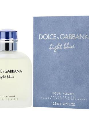 Dolce & gabbana light blue pour homme 125 мл мужская туалетная вода