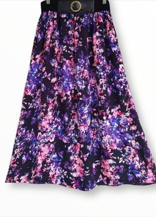 Красивая длинная юбка в цветы peacocks