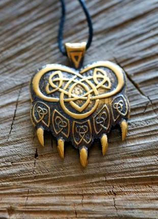 Подвеска бронзовая амулет печать велеса-символы предков