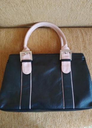 Кожаная сумка tommy &  kate